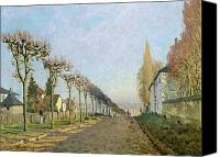Louveciennes Canvas Prints - Rue de la Machine Louveciennes Canvas Print by Alfred Sisley