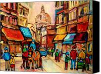 World Class Canvas Prints - Rue St. Paul Old Montreal Streetscene Canvas Print by Carole Spandau