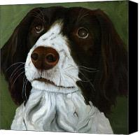 Linda Apple Canvas Prints - Rueger - dog portrait oil painting Canvas Print by Linda Apple