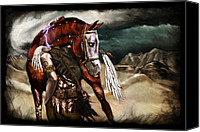 Desert Digital Art Canvas Prints - Ruined Empires - Skin Horse  Canvas Print by Mandem  