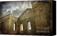 Foreboding Canvas Prints - Ruins of a church in Ontario Canvas Print by Sandra Cunningham