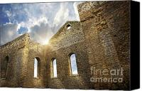 Foreboding Canvas Prints - Ruins of a church in South Glengarry Canvas Print by Sandra Cunningham