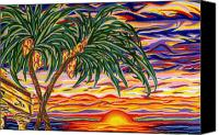 Tropical Sunset Pastels Canvas Prints - Ruins of Empires Detail A Canvas Print by Robert  SORENSEN