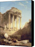 Ruin Painting Canvas Prints - Ruins of the Temple of Bacchus Canvas Print by David Roberts