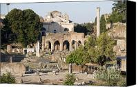 Ruin Canvas Prints - Ruins. Roman Forum Canvas Print by Bernard Jaubert