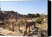 Ruin Canvas Prints - Ruins. Roman Forum. Rome Canvas Print by Bernard Jaubert