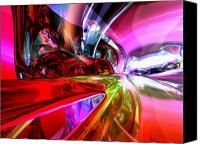 Cgi Canvas Prints - Runaway Color Abstract Canvas Print by Alexander Butler