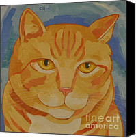 Tabby  Painting Canvas Prints - Runner # 3 Canvas Print by Cilla Mays