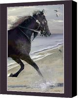 Race Pyrography Canvas Prints - Runner Three Canvas Print by John Breen