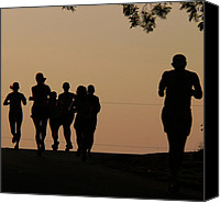 Jogging Canvas Prints - Running Canvas Print by Angela Wright
