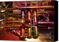 Brass Digital Art Canvas Prints - Running On Three Cylinders v1 Canvas Print by Michael C Geraghty