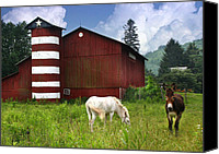 Pennsylvania Barns Canvas Prints - Rural America Canvas Print by Lori Deiter