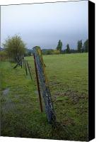 Raining Canvas Prints - Rural Fence Canvas Print by Idaho Scenic Images Linda Lantzy