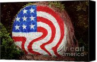 July Fourth Canvas Prints - Rural Flag Canvas Print by Toni Hopper