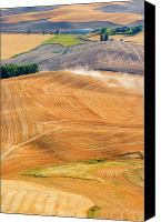 Wheat Canvas Prints - Rural Traffic Canvas Print by Mike  Dawson