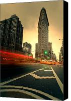 Taxi Canvas Prints - Rushing into another day Canvas Print by John Farnan
