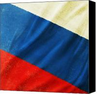 Abstract Map Photo Canvas Prints - Russia flag Canvas Print by Setsiri Silapasuwanchai