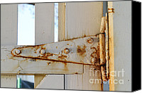 Rusty Door Canvas Prints - Rust On A Hinge Canvas Print by Photo Researchers, Inc.