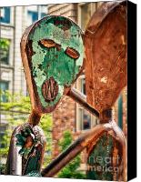 Singing Canvas Prints - Rust People Canvas Print by Niels Nielsen