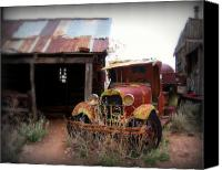 Old Trucks Canvas Prints - Rusted classic Canvas Print by Perry Webster