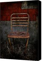 Rural Decay Framed Prints Canvas Prints - Rusted Red Canvas Print by Larysa Luciw