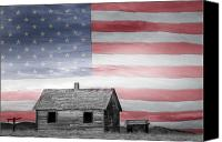The White House Canvas Prints - Rustic America Canvas Print by James Bo Insogna