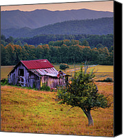 Farm Scenes Canvas Prints - Rustic Barn - Wears Valley Tennessee Canvas Print by Thomas Schoeller