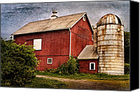 Barns Canvas Prints - Rustic Barn Canvas Print by Bill  Wakeley