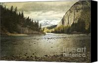 Storm Prints Canvas Prints - Rustic Bow River Canvas Print by Andrea Hazel Ihlefeld