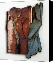 Found Objects Sculpture Canvas Prints - Rustic Elegance Canvas Print by Snake Jagger