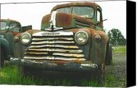 Old Trucks Canvas Prints - Rustic Mercury Canvas Print by Randy Harris