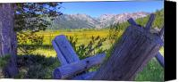 Olympic Canvas Prints - Rustic moss covered pioneer era fence in Olympic Valley California Canvas Print by Scott McGuire