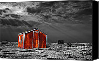 Red And White Canvas Prints - Rusting Away Canvas Print by Meirion Matthias