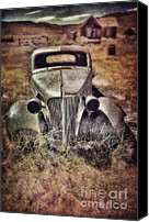 Haunted House Canvas Prints - Rusty Car  Canvas Print by Jill Battaglia