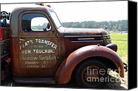 Old Trucks Canvas Prints - Rusty Old 1935 International Truck . 7D15496 Canvas Print by Wingsdomain Art and Photography