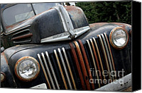 American Car Canvas Prints - Rusty Old Ford Truck - IMG4413 Canvas Print by Wingsdomain Art and Photography
