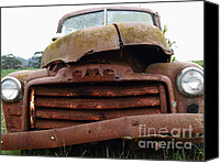 Old American Truck Canvas Prints - Rusty Old GMC Truck . 7D8396 Canvas Print by Wingsdomain Art and Photography