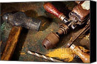 Household Canvas Prints - Rusty Tools Canvas Print by Carlos Caetano
