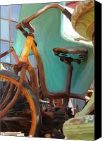Collectibles Canvas Prints - Rusty Wheels Canvas Print by Patti Siehien