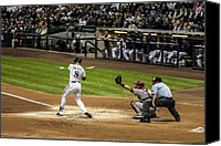 Mlb Photo Canvas Prints - Ryan Braun  Canvas Print by CJ Schmit