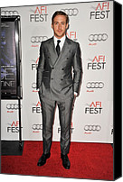 Gray Suit Canvas Prints - Ryan Gosling At Arrivals For Afi Fest Canvas Print by Everett