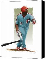 All Star Digital Art Canvas Prints - Ryan Howard Canvas Print by Scott Weigner