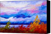 Lake Canvas Prints - Rythmn Of The Arctic Canvas Print by Marion Rose