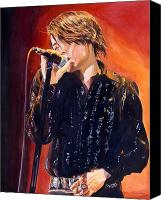 Singer Painting Canvas Prints - Ryuishi Kawamura Canvas Print by David Lloyd Glover