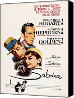1950s Poster Art Canvas Prints - Sabrina, Humphrey Bogart, William Canvas Print by Everett