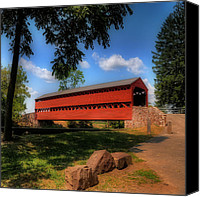 Gettysburg Canvas Prints - Sachs Covered Bridge Canvas Print by Lois Bryan