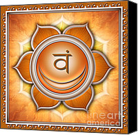 Sacral Canvas Prints - Sacral Chakra Swadhisthana Canvas Print by Dirk Czarnota