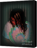 Photograhy Canvas Prints - Sad Girl Canvas Print by Donna Van Vlack