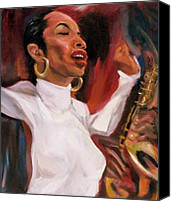 Patrick Mills Canvas Prints - Sade Smooth Jazz Canvas Print by Patrick Mills