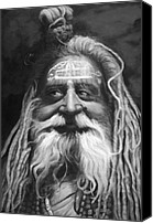 Fine Art - People Canvas Prints - Sadhu  Canvas Print by Enzie Shahmiri